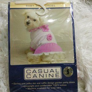 Pink Babydoll Dog Party Dress S NWT